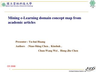 Mining e-Learning domain concept map from academic articles