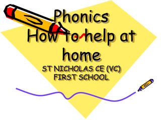 Phonics How to help at home ST NICHOLAS CE (VC)  FIRST SCHOOL