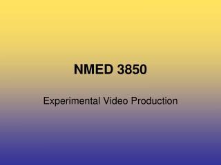 NMED 3850