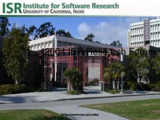 2004 ISR Research Forum