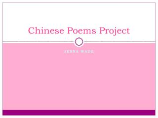 Chinese Poems Project