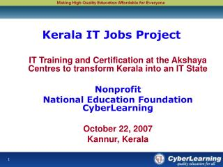 Kerala IT Jobs Project