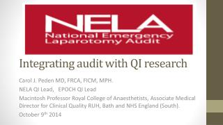 Integrating audit with QI research