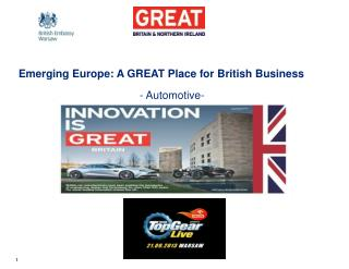 Emerging Europe: A GREAT Place for British Business  - Automotive-