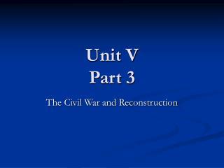 Unit V Part 3