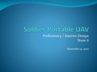 Soldier Portable UAV