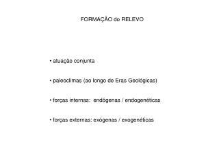 FORMA��O do RELEVO