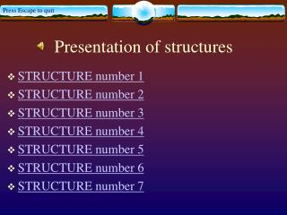 Presentation of structures