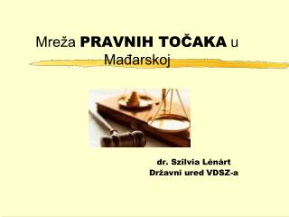 Mreža  PRAVNIH TOČAKA  u Mađarskoj