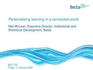 Personalising learning in a connected world