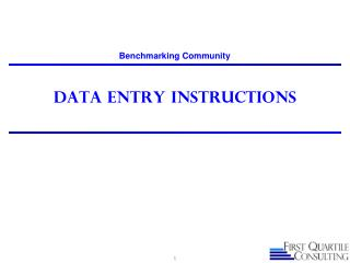 Data Entry Instructions