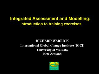 Integrated Assessment and Modelling: Introduction to training exercises