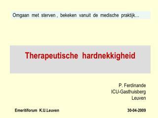 Therapeutische  hardnekkigheid