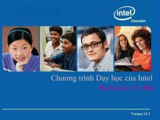 Chương trình D ạy học của  Intel Khóa học Cơ bản