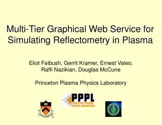Multi-Tier Graphical Web Service for Simulating Reflectometry in Plasma