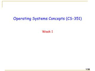 Operating  Systems Concepts ( CS-351)