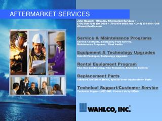 AFTERMARKET SERVICES