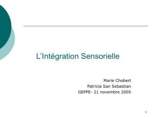 L Int gration Sensorielle