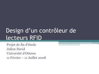 Design d un contr leur de lecteurs RFID