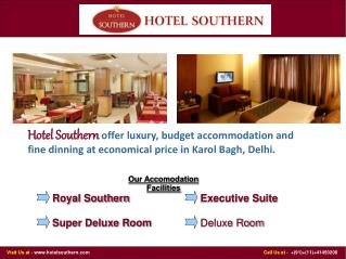Economical and Luxury Hotels in Delhi
