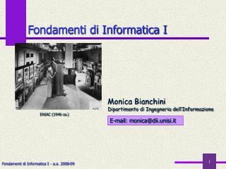 Fondamenti di Informatica I