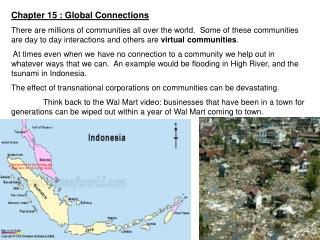Chapter 15 : Global Connections