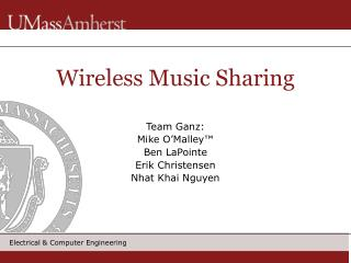 Wireless Music Sharing