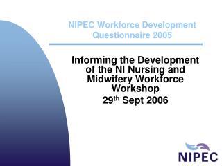 NIPEC Workforce Development Questionnaire 2005