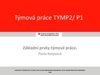 Týmová práce TYMP2/ P1