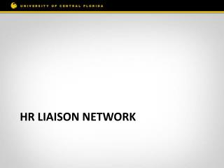 HR Liaison network