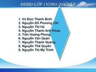 ĐHBD-LỚP 13CH01-NHÓM 5
