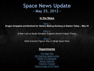 Space News Update - May 25, 2012 -