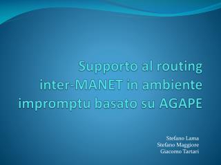 Supporto al  routing  inter-MANET  in ambiente impromptu basato su AGAPE