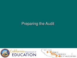 Preparing the Audit