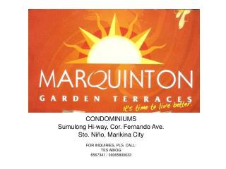 CONDOMINIUMS Sumulong Hi-way, Cor. Fernando Ave. Sto. Niño, Marikina City