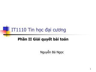 IT1110 Tin h?c ??i c??ng