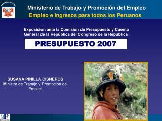 Empleo e Ingresos para todos los Peruanos