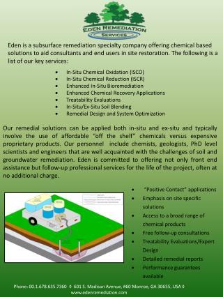 In-Situ Chemical Oxidation (ISCO) In-Situ Chemical Reduction (ISCR)