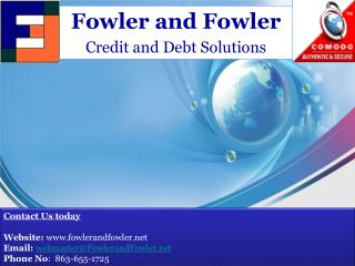 Fast Credit repair Solution at Fower and Fowler