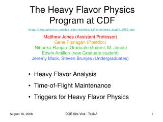 The Heavy Flavor Physics Program at CDF