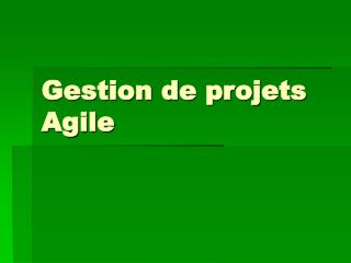 Gestion de projets Agile