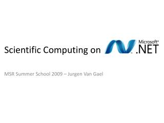 Scientific Computing on