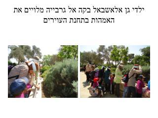 ילדי גן  אלאשבאל בקה  אל  גרבייה  מלויים את האמהות בתחנת  העוירים