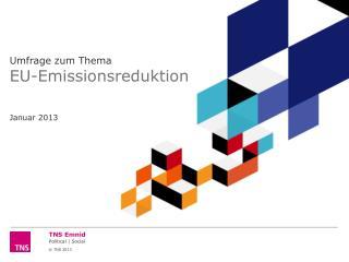 Umfrage zum Thema EU-Emissionsreduktion  Januar 2013