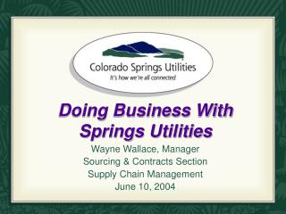 Doing Business With Springs Utilities