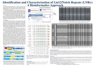 Identification and Characterization of Lin12/Notch Repeats (LNRs):
