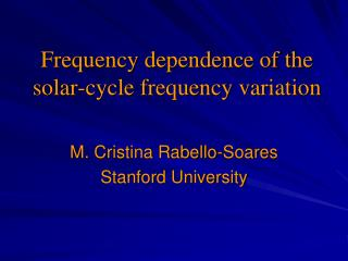 Frequency dependence of the solar-cycle frequency variation