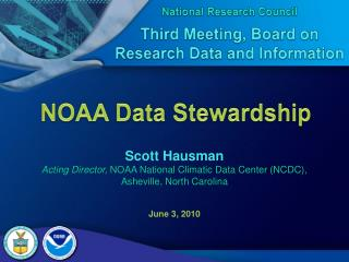 NOAA Data Stewardship