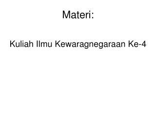 Materi: