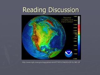 Reading Discussion